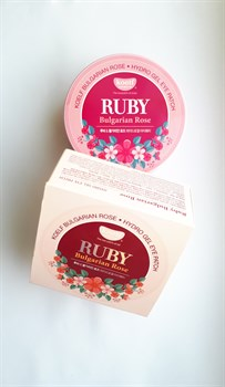 Патчи для глаз с болгарской розой и порошком рубина Petitfee KOELF Ruby & Bulgarian Rose (60шт.) - фото 5344
