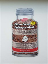 PureDerm Choco Cacao Collagen Mask Маска тканевая с коллагеном и какао 18г